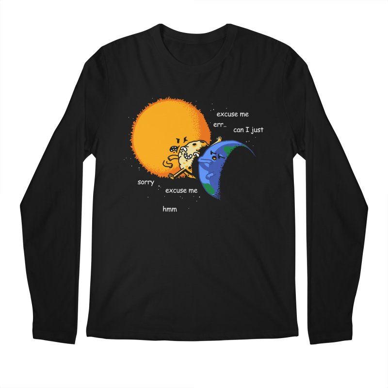 Total Solar Eclipse - Excuse Me Men's Regular Longsleeve T-Shirt by Vó Maria's Artist Shop