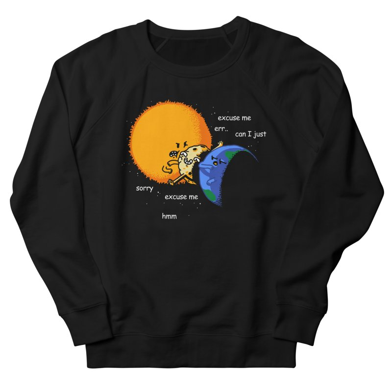 Total Solar Eclipse - Excuse Me Men's French Terry Sweatshirt by Vó Maria's Artist Shop
