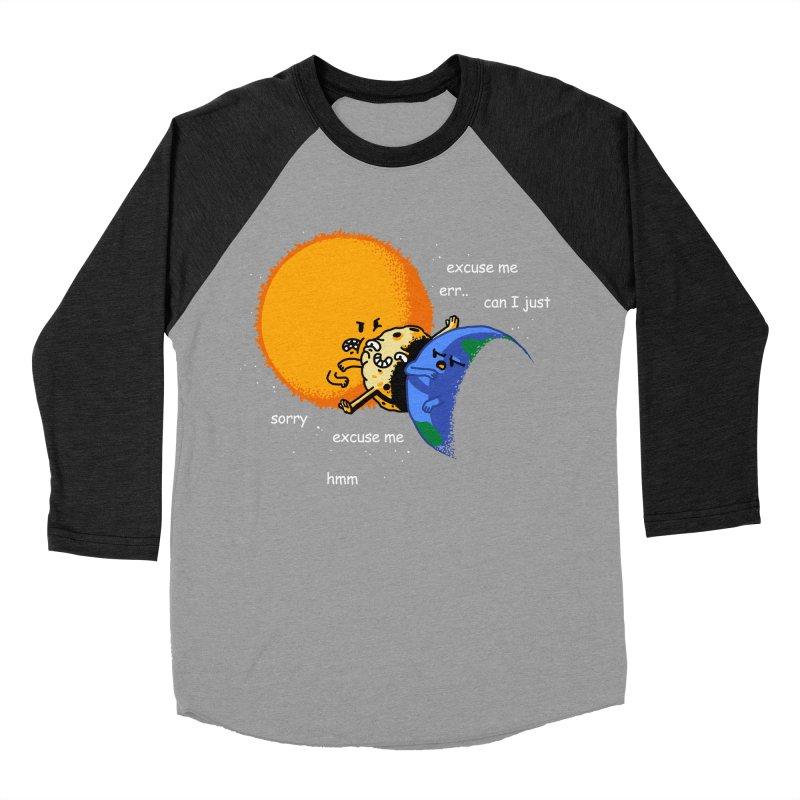 Total Solar Eclipse - Excuse Me Women's Baseball Triblend Longsleeve T-Shirt by Vó Maria's Artist Shop