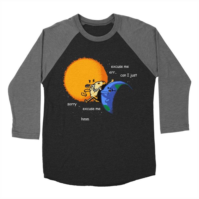 Total Solar Eclipse - Excuse Me Men's Baseball Triblend T-Shirt by Vó Maria's Artist Shop