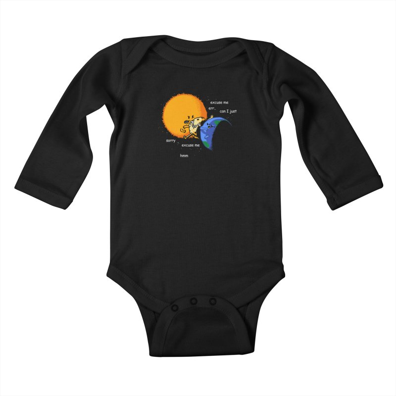 Total Solar Eclipse - Excuse Me Kids Baby Longsleeve Bodysuit by Vó Maria's Artist Shop