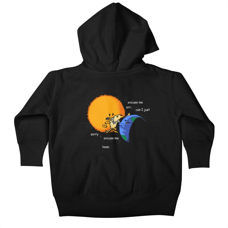 Total Solar Eclipse - Excuse Me Kids Baby Zip-Up Hoody by Vó Maria's Artist Shop