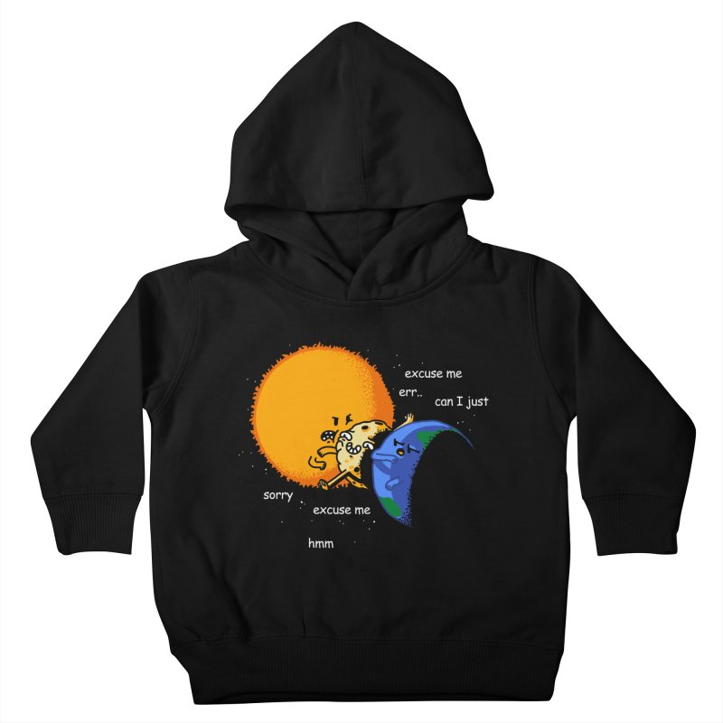 Total Solar Eclipse - Excuse Me Kids Toddler Pullover Hoody by Vó Maria's Artist Shop