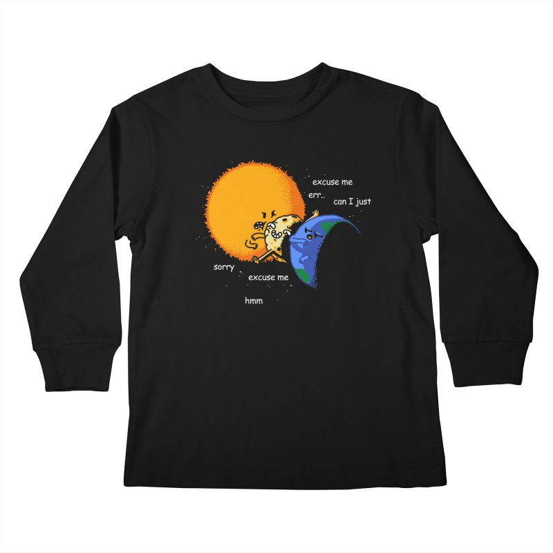 Total Solar Eclipse - Excuse Me Kids Longsleeve T-Shirt by Vó Maria's Artist Shop