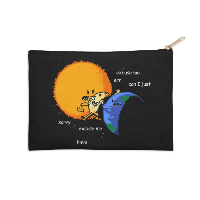 Total Solar Eclipse - Excuse Me Accessories Zip Pouch by Vó Maria's Artist Shop