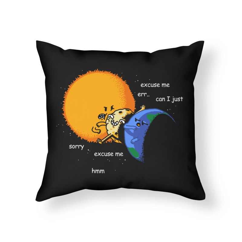 Total Solar Eclipse - Excuse Me Home Throw Pillow by Vó Maria's Artist Shop