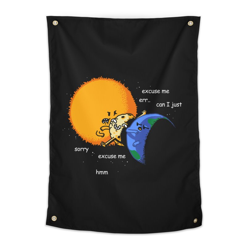 Total Solar Eclipse - Excuse Me Home Tapestry by Vó Maria's Artist Shop