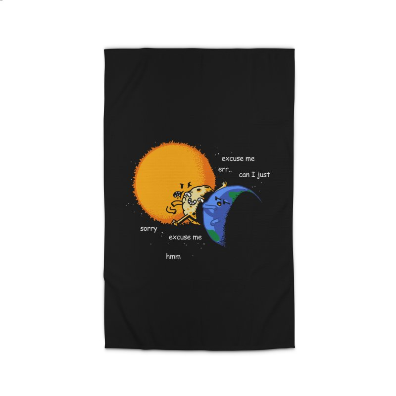Total Solar Eclipse - Excuse Me Home Rug by Vó Maria's Artist Shop