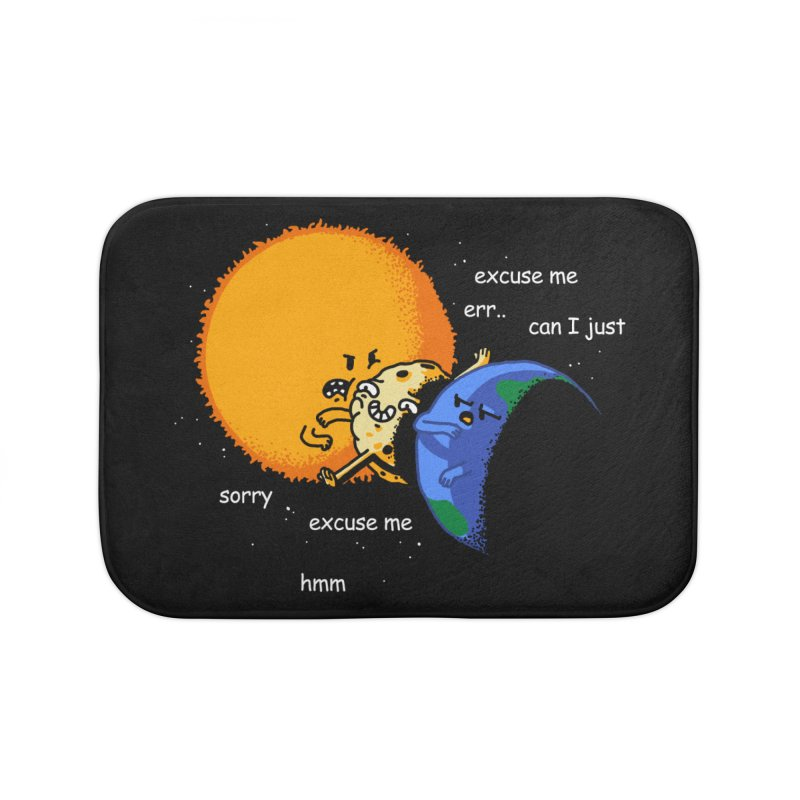 Total Solar Eclipse - Excuse Me Home Bath Mat by Vó Maria's Artist Shop