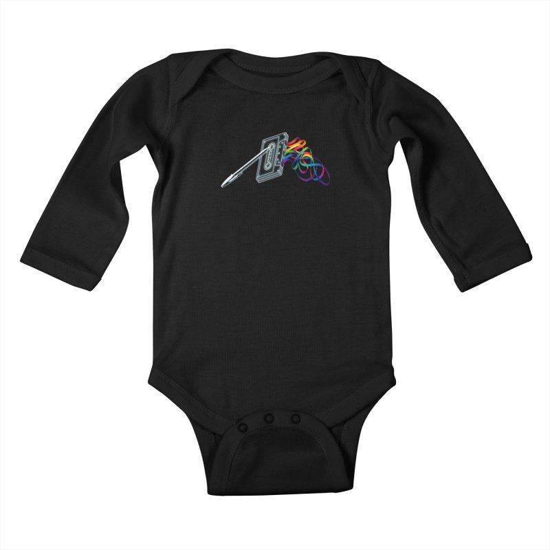 Mixtape Kids Baby Longsleeve Bodysuit by Vó Maria's Artist Shop