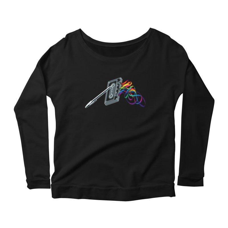 Mixtape Women's Scoop Neck Longsleeve T-Shirt by Vó Maria's Artist Shop