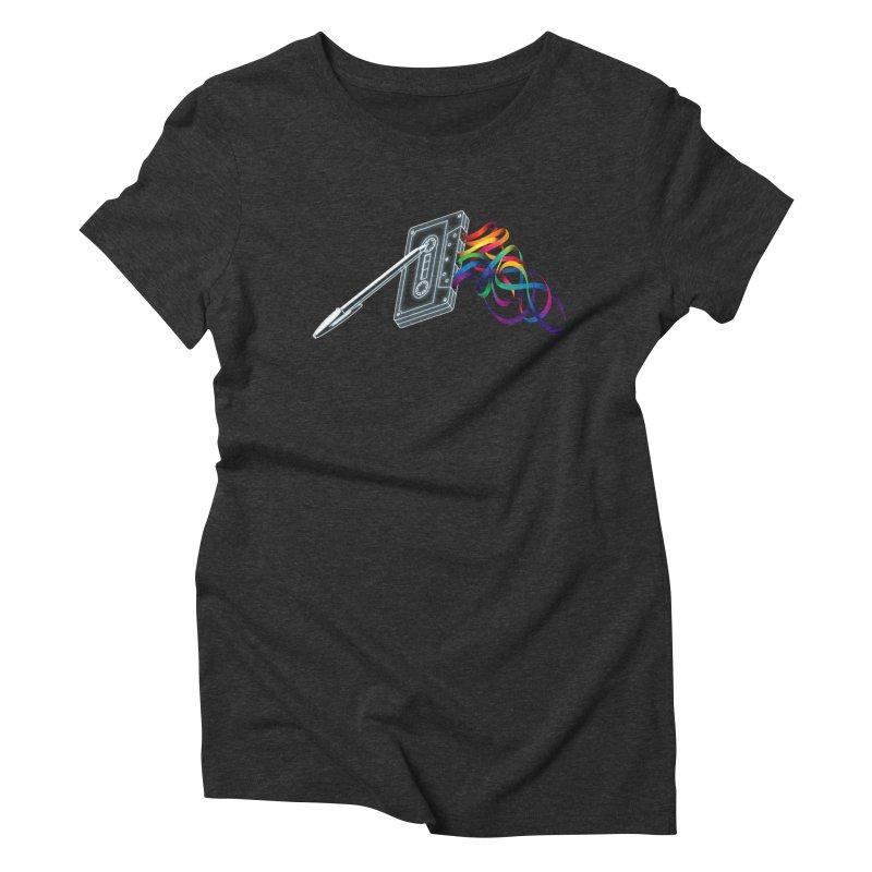 Mixtape Women's Triblend T-Shirt by Vó Maria's Artist Shop