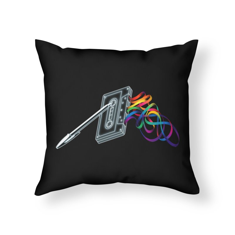 Mixtape Home Throw Pillow by Vó Maria's Artist Shop