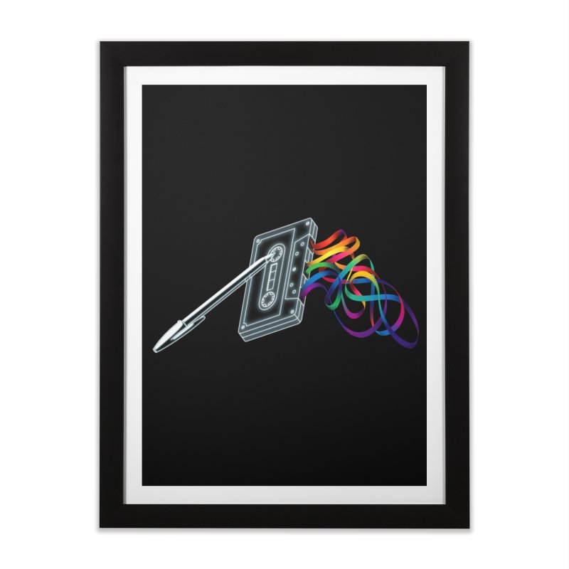 Mixtape Home Framed Fine Art Print by Vó Maria's Artist Shop