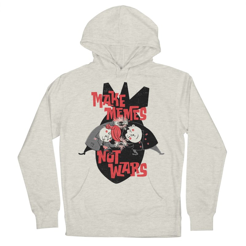 Make Memes, Not Wars Men's French Terry Pullover Hoody by Vó Maria's Artist Shop