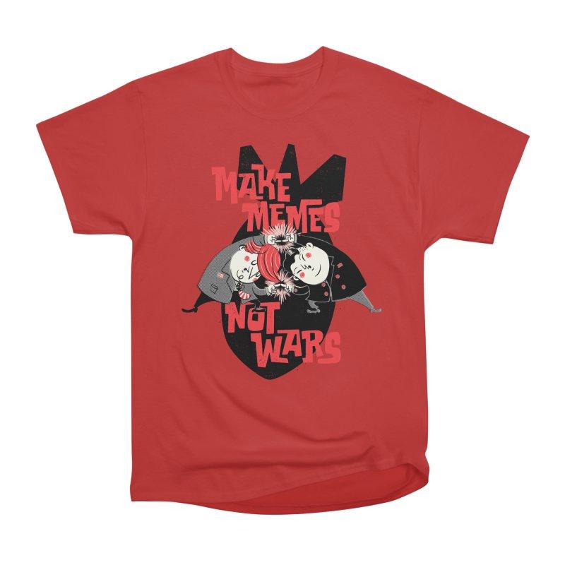 Make Memes, Not Wars Men's Heavyweight T-Shirt by Vó Maria's Artist Shop