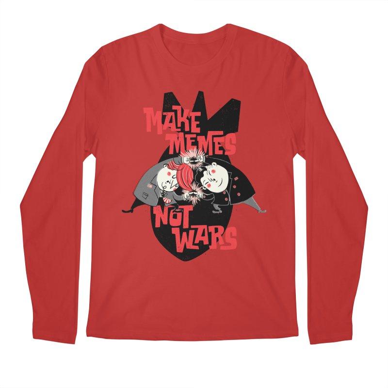 Make Memes, Not Wars Men's Longsleeve T-Shirt by Vó Maria's Artist Shop