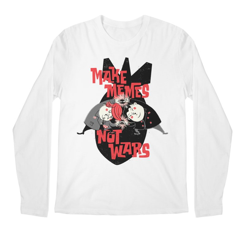 Make Memes, Not Wars Men's Regular Longsleeve T-Shirt by Vó Maria's Artist Shop