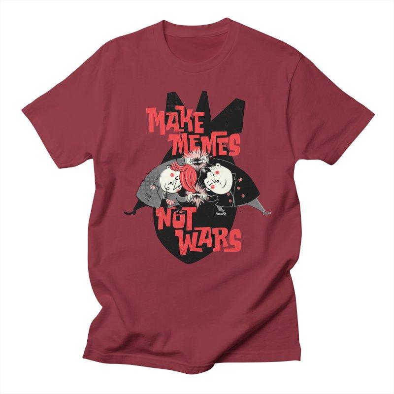 Make Memes, Not Wars Women's Regular Unisex T-Shirt by Vó Maria's Artist Shop