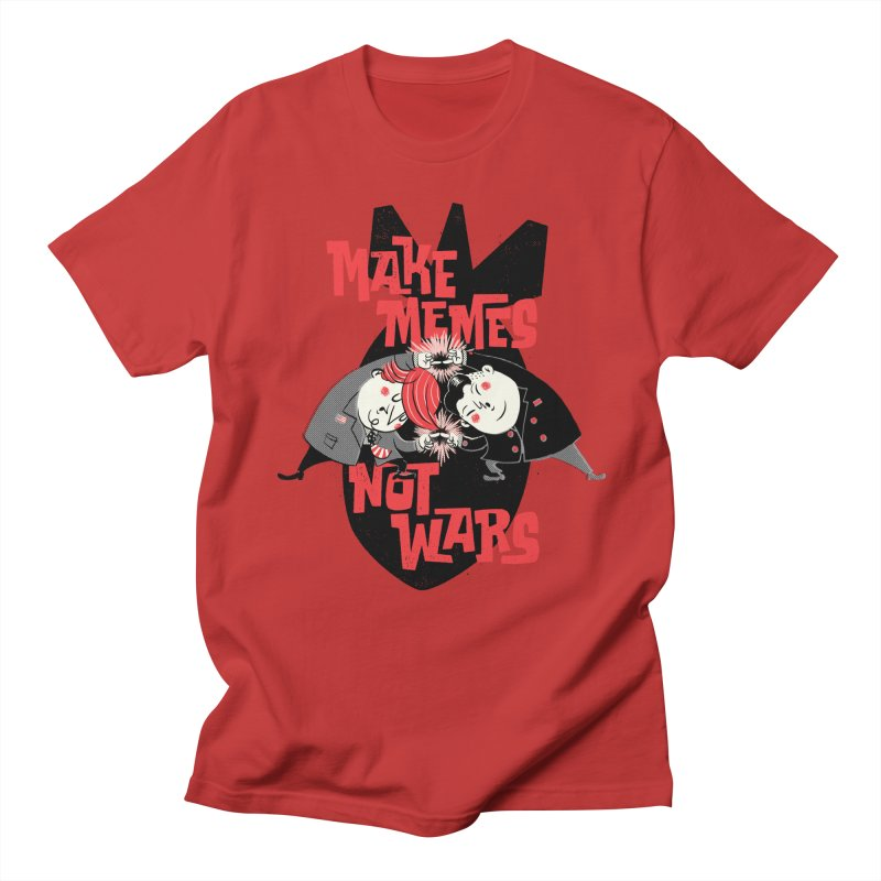 Make Memes, Not Wars Women's Regular Unisex T-Shirt by Vó Maria's Artist Shop