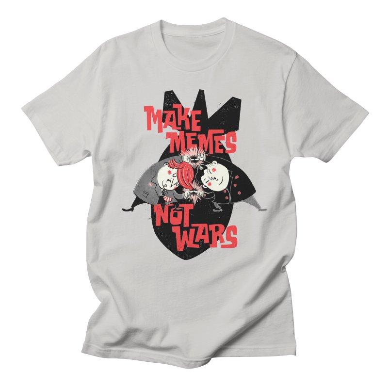 Make Memes, Not Wars Men's Regular T-Shirt by Vó Maria's Artist Shop