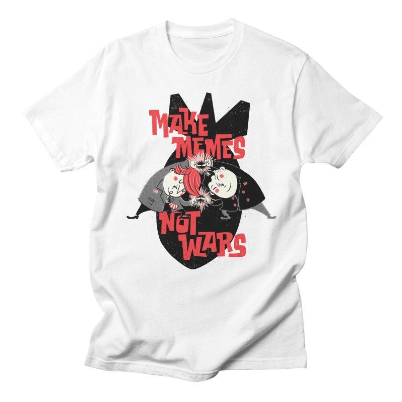 Make Memes, Not Wars Men's T-Shirt by Vó Maria's Artist Shop