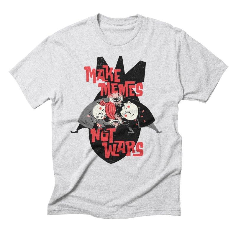 Make Memes, Not Wars Men's Triblend T-Shirt by Vó Maria's Artist Shop