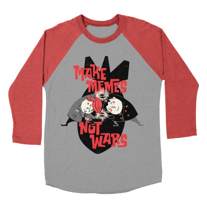 Make Memes, Not Wars Women's Baseball Triblend Longsleeve T-Shirt by Vó Maria's Artist Shop