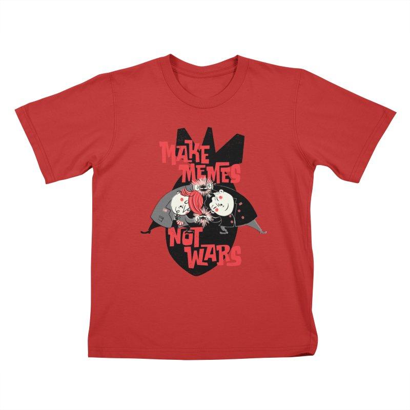 Make Memes, Not Wars Kids T-Shirt by Vó Maria's Artist Shop