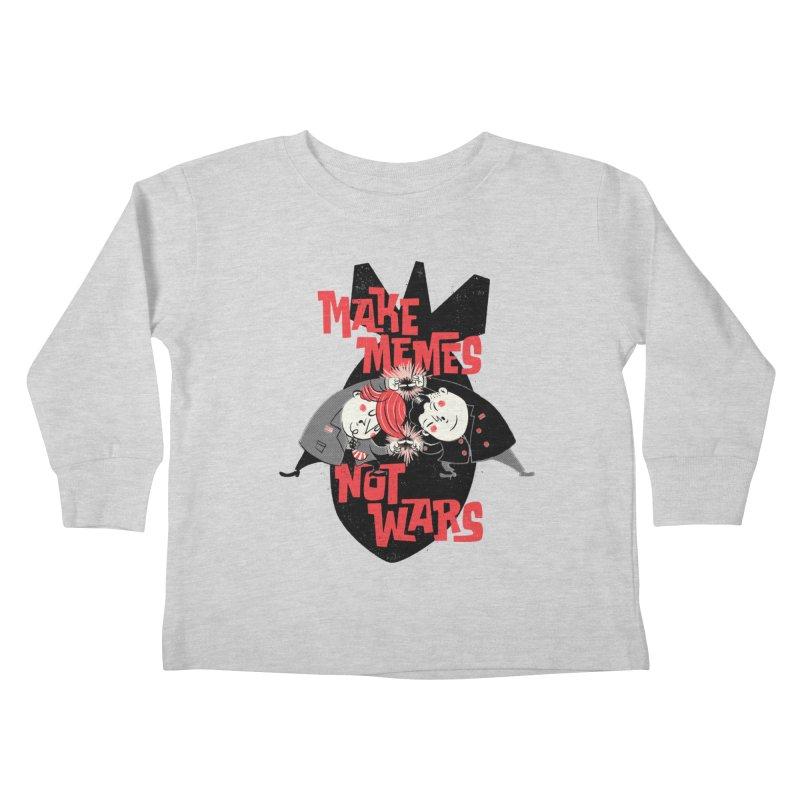 Make Memes, Not Wars Kids Toddler Longsleeve T-Shirt by Vó Maria's Artist Shop