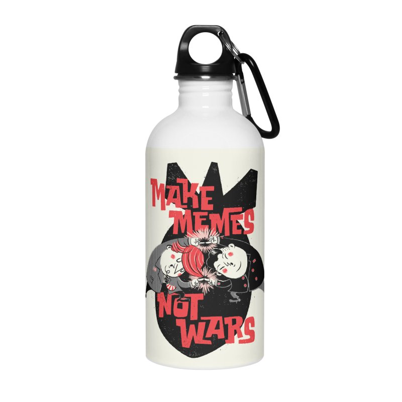 Make Memes, Not Wars Accessories Water Bottle by Vó Maria's Artist Shop