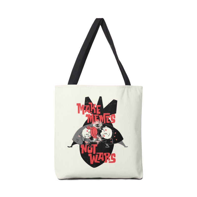 Make Memes, Not Wars Accessories Bag by Vó Maria's Artist Shop