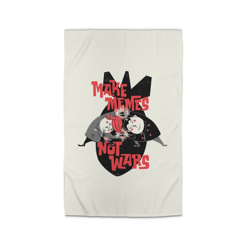 Make Memes, Not Wars Home Rug by Vó Maria's Artist Shop