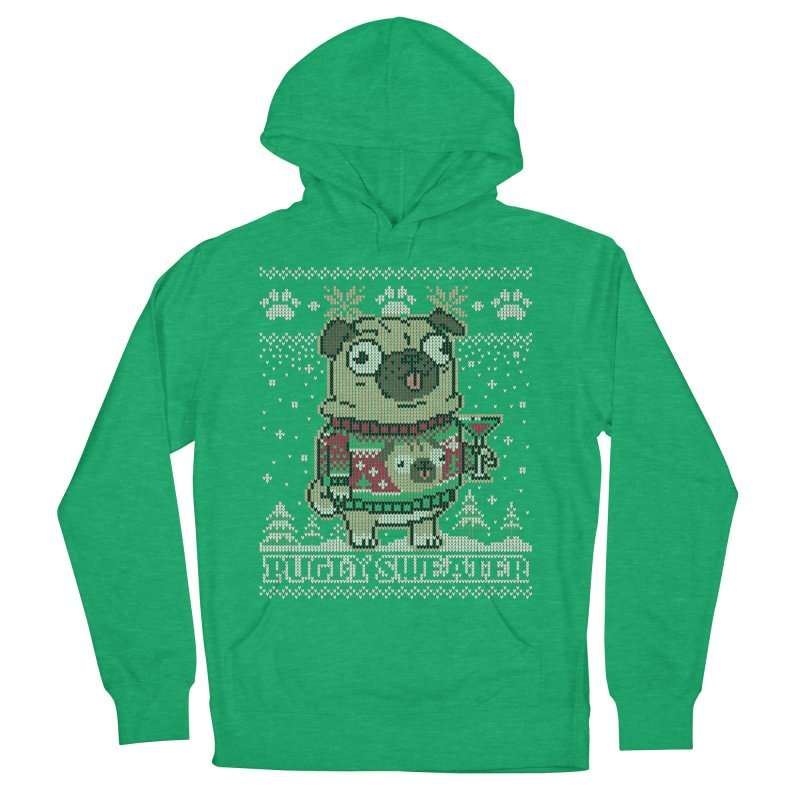 Pugly Sweater Men's French Terry Pullover Hoody by Vó Maria's Artist Shop