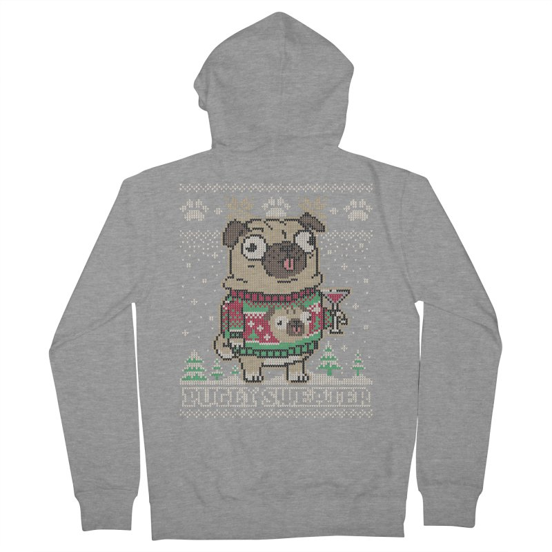 Pugly Sweater Women's French Terry Zip-Up Hoody by Vó Maria's Artist Shop
