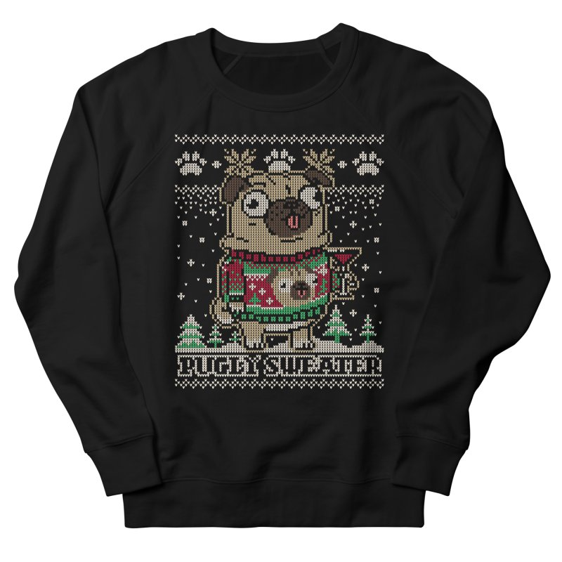 Pugly Sweater Men's French Terry Sweatshirt by Vó Maria's Artist Shop