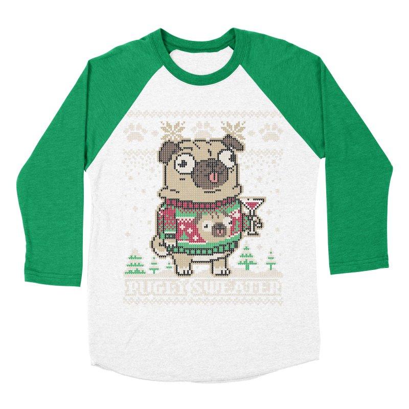 Pugly Sweater Men's Baseball Triblend Longsleeve T-Shirt by Vó Maria's Artist Shop