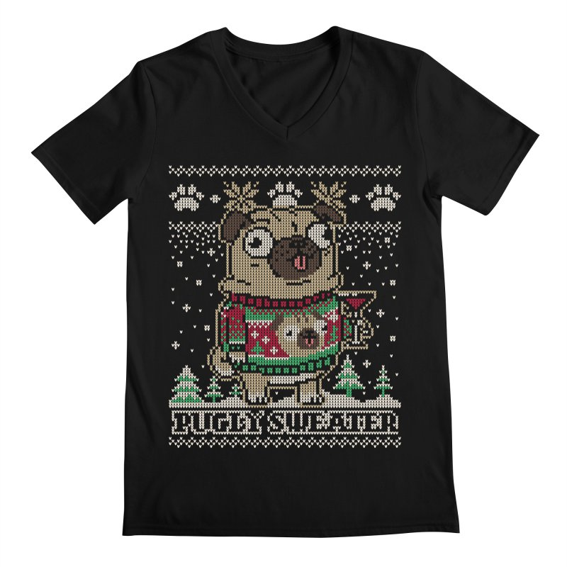 Pugly Sweater Men's Regular V-Neck by Vó Maria's Artist Shop