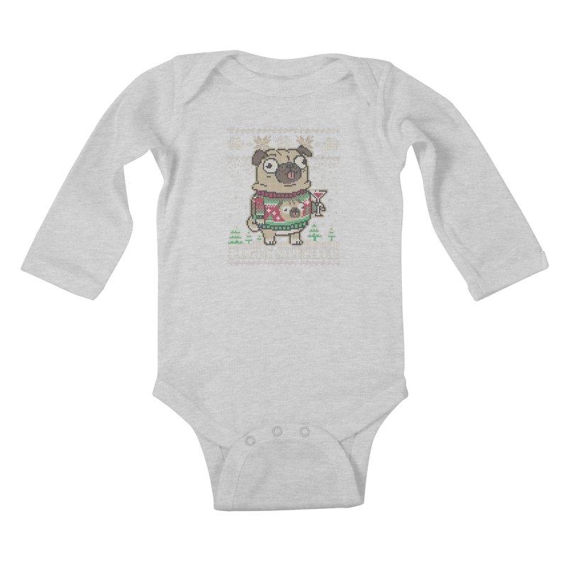 Pugly Sweater Kids Baby Longsleeve Bodysuit by Vó Maria's Artist Shop