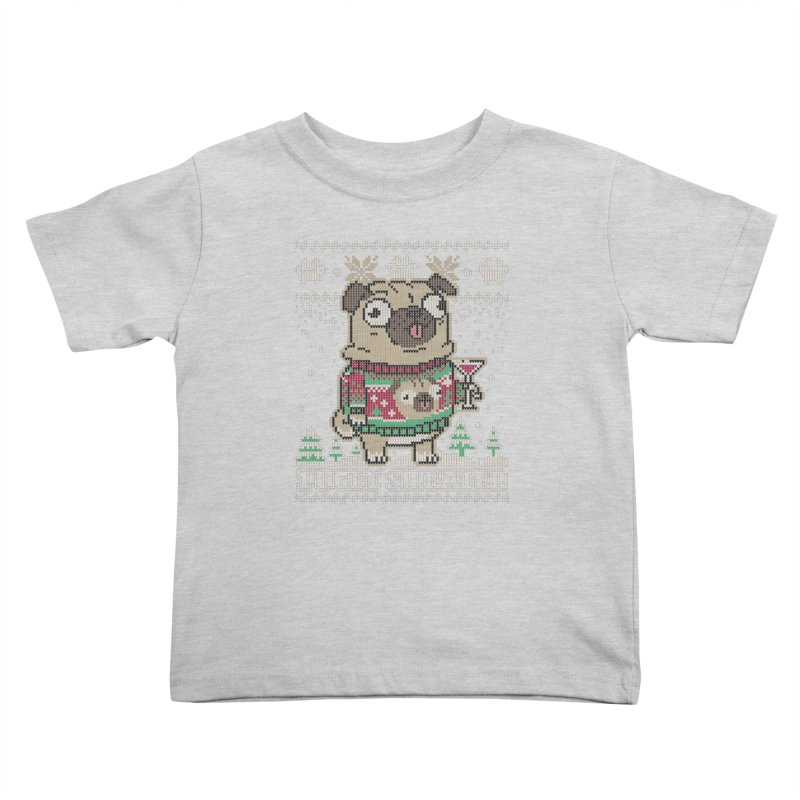 Pugly Sweater Kids Toddler T-Shirt by Vó Maria's Artist Shop