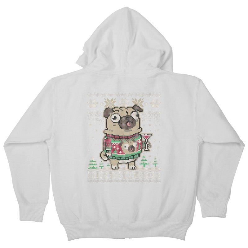 Pugly Sweater Kids Zip-Up Hoody by Vó Maria's Artist Shop