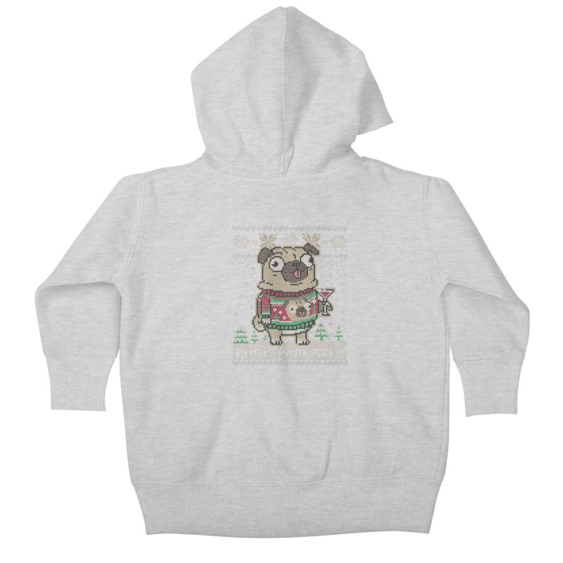Pugly Sweater Kids Baby Zip-Up Hoody by Vó Maria's Artist Shop