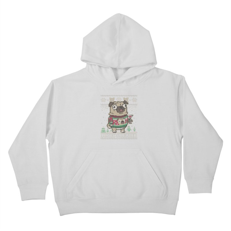 Pugly Sweater Kids Pullover Hoody by Vó Maria's Artist Shop