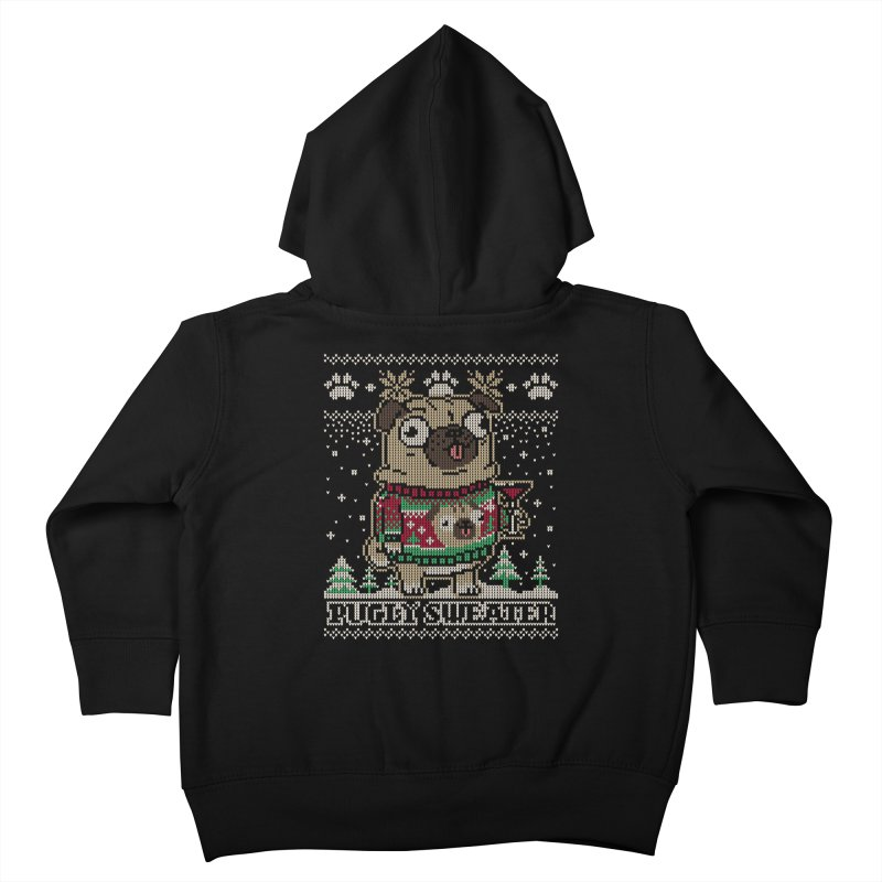 Pugly Sweater Kids Toddler Zip-Up Hoody by Vó Maria's Artist Shop