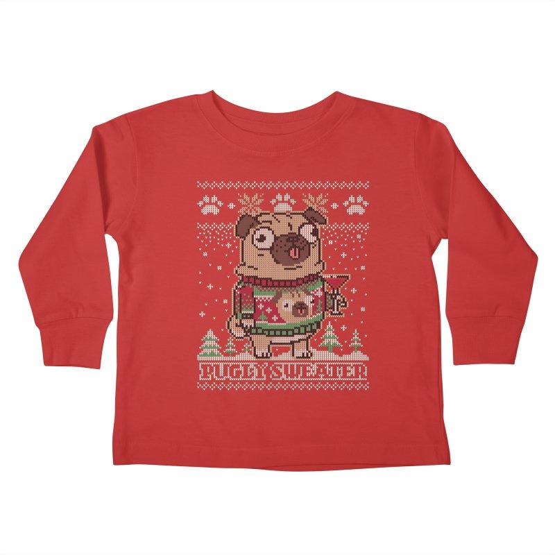 Pugly Sweater Kids Toddler Longsleeve T-Shirt by Vó Maria's Artist Shop