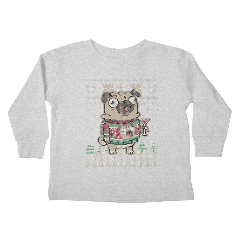 Pugly Sweater Kids Toddler Longsleeve T-Shirt by Vó Maria's Artist Shop