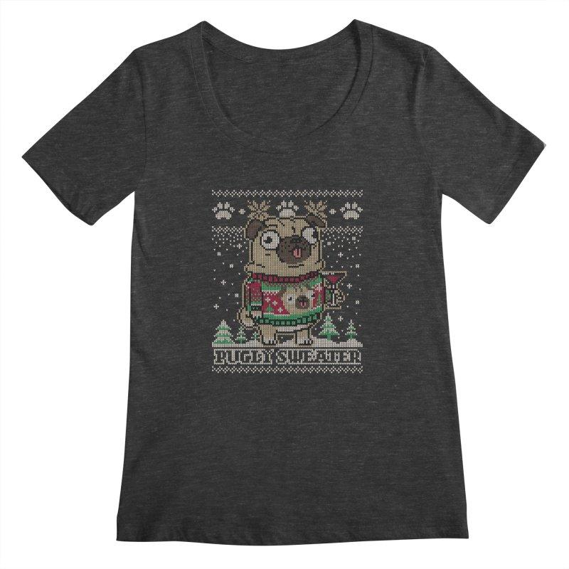 Pugly Sweater Women's Scoopneck by Vó Maria's Artist Shop