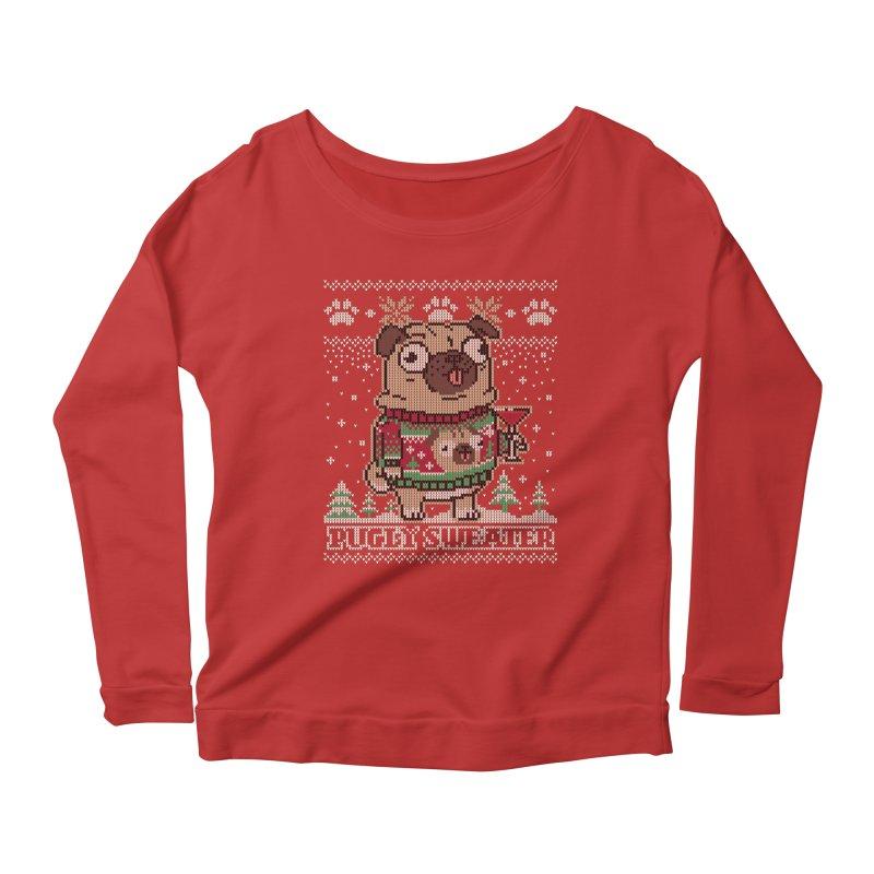 Pugly Sweater Women's Scoop Neck Longsleeve T-Shirt by Vó Maria's Artist Shop