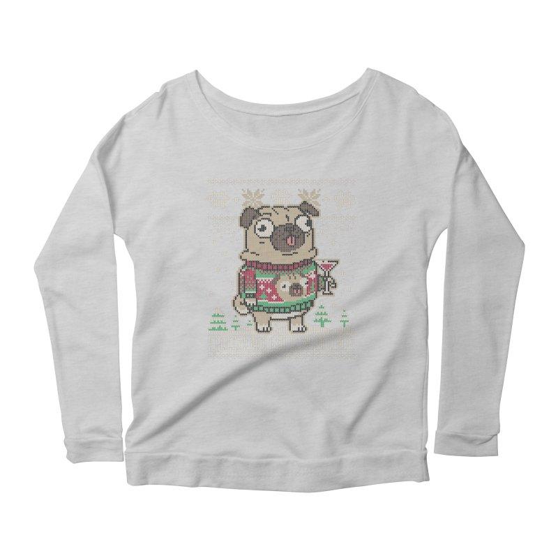 Pugly Sweater Women's Longsleeve Scoopneck  by Vó Maria's Artist Shop