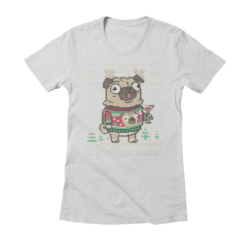 Pugly Sweater Women's Fitted T-Shirt by Vó Maria's Artist Shop